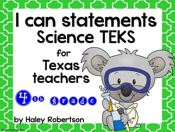 """4th Grade Science """"I can"""" statements- Tile pattern (using TEKS)"""