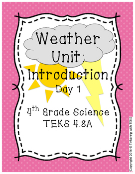 FREE 4th Grade Science Weather Unit: Introduction - Day 1