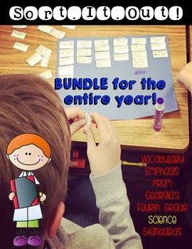 Science Interactive Vocabulary Sorts Bundle 4th Grade Georgia