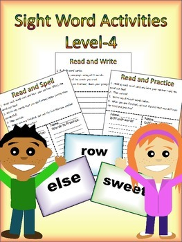 4th Grade Sight Word Activity Pack