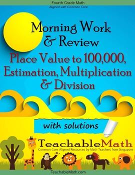 4th Grade Math in Focus Morning Work Multiplication Divisi