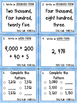 4th Grade Singapore Math Style Place Value Task Cards - TE