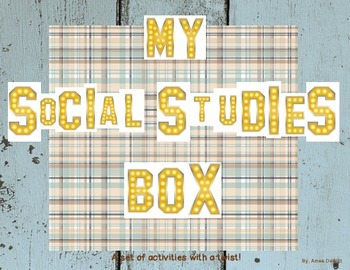 4th Grade Social Studies Activity (Make a Social Studies Box!)
