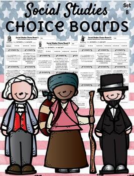4th Grade Social Studies Choice Boards  **EDITABLE**