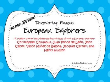 "4th Grade Social Studies GPS ""Discovering Famous European"