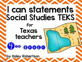 "4th Grade Social Studies ""I can"" statements- Chevron patte"
