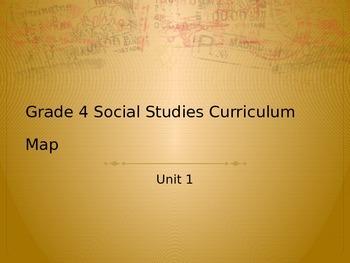 4th Grade Social Studies Unit 1 Curriculum Map