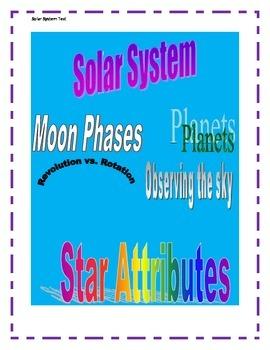 4th Grade Solar System Test, GPS, with Georgia Performance