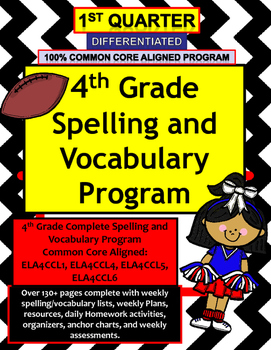 4th Grade Spelling and Vocabulary Common Core Differentiat