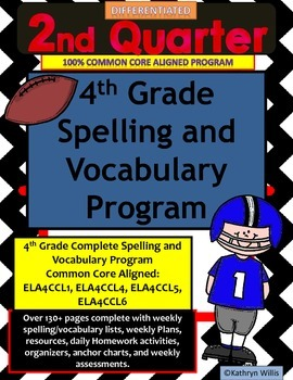 4th Grade Spelling and Vocabulary Quarter 2 Program