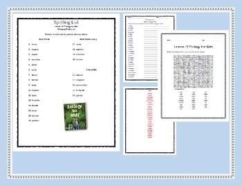 4th Grade Spelling/Vocab Activities HMH Journey's 2014  L1