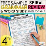 4th Grade Language Homework 4th Grade Morning Work FREE