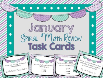 4th Grade Spiral Math Review - January