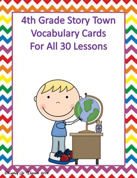 4th Grade Story Town Vocabulary Cards