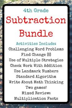 4th Grade Subtraction Bundle
