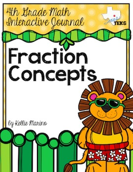 4th Grade TEKS Equivalent Fraction Concepts Interactive Journal