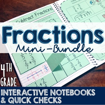 4th Grade TEKS Fractions Interactive Notebook