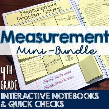 4th Grade TEKS Measurement Interactive Notebook