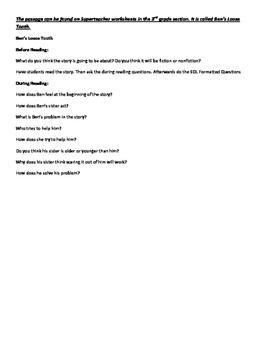 4th Grade Virginia Reading Comprehension