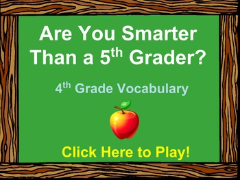 4th Grade Vocabulary Review - Are You Smarter Than a 5th G