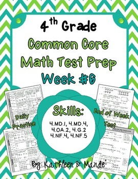 4th Grade: Weekly Test Prep #6 (Daily Practice & Assessment)