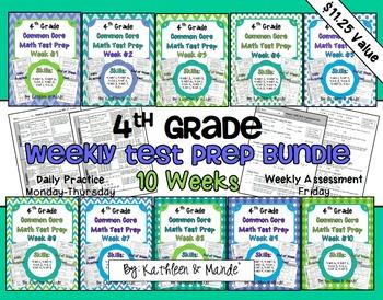 4th Grade: Weekly Test Prep BUNDLE (10 Weeks of Daily Prac