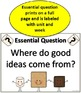 4th Grade Wonders - Essential Questions and Skills Posters
