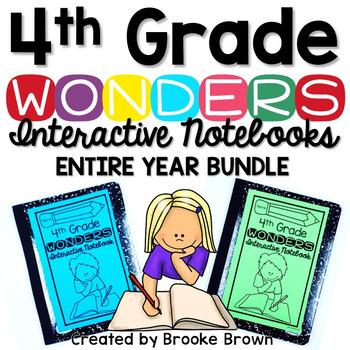 4th Grade Wonders INTERACTIVE NOTEBOOK ENTIRE YEAR BUNDLE