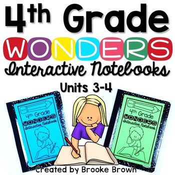 4th Grade Wonders INTERACTIVE NOTEBOOKS {UNITS 3-4}