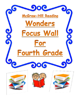 4th Grade Wonders Reading Focus Wall Posters- Simple and E
