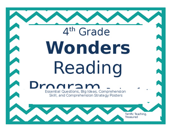 4th Grade Wonders Reading Posters Units 1-3
