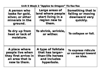 4th Grade Wonders Reading Series Unit 5 Week 2 Vocabulary