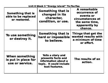 4th Grade Wonders Reading Series Unit 6 Week 3 Vocabulary