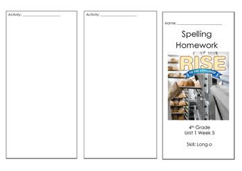 4th Grade Wonders Reading Spelling Brochure Unit 1 Week 5