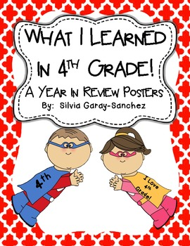 4th Grade Year in Review Write-In Posters