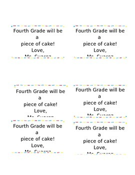 4th Grade will be a Piece of CAKE