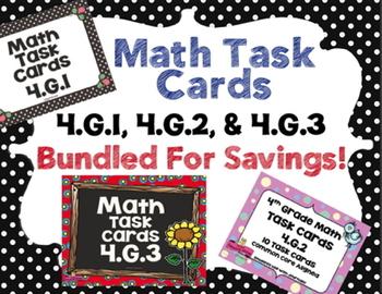 4th - Math Task Cards Bundle! 4.G.1 ~ 4.G.2 ~ 4.G.3 Common