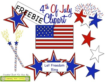 4th Of July Clipart - FREEBIE