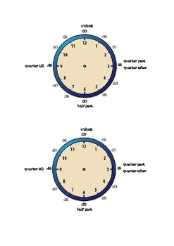 4th Quarter Clock - Time-Telling Tool