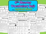 4th Quarter Vocabulary Unit from Lightbulb Minds