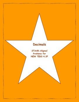 4th STAAR Decimals New TEKS 4.2F