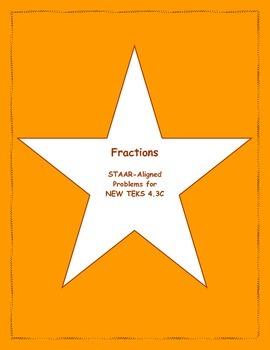 4th STAAR Fractions New TEKS 4.3C