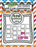 4th grade Common Core Aligned Exit Tickets with I can statements