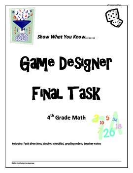 """4th grade Common Core Math """"Game Designer"""" final project"""