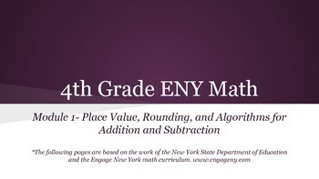 4th grade Engage NY math Module 1 Topic A Lesson 2