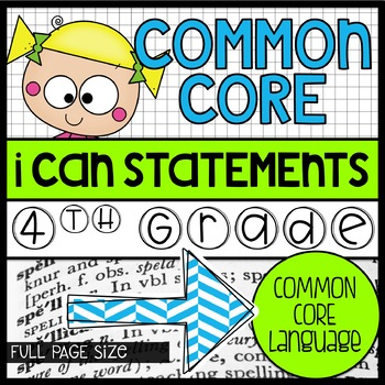 4th grade Full Size Common Core Standards Posters {green,