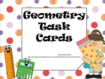 4th grade Geometry Task cards