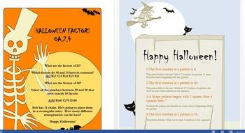 4th grade Halloween themed OA.2.4 and OA.3.5 mini assessments