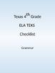 4th grade LA TEKS Checklist
