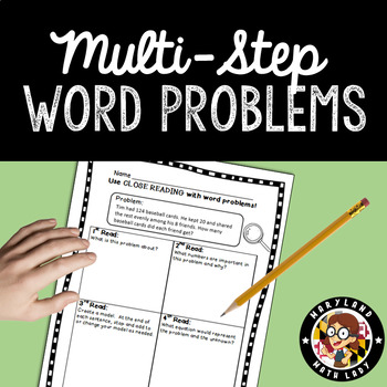 4th grade Multi-Step Word Problems - Close Reading!